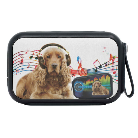 Cocker Spaniel Listening to music Print Bluetooth Speaker