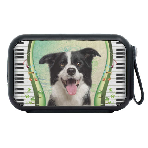 Border Collie Print Bluetooth Speaker
