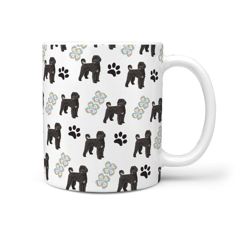 Portuguese Water Dog Patterns Print 360 White Mug