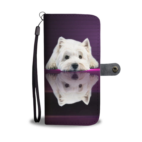 West Highland White Terrier (Westie) Dog Print Wallet Case