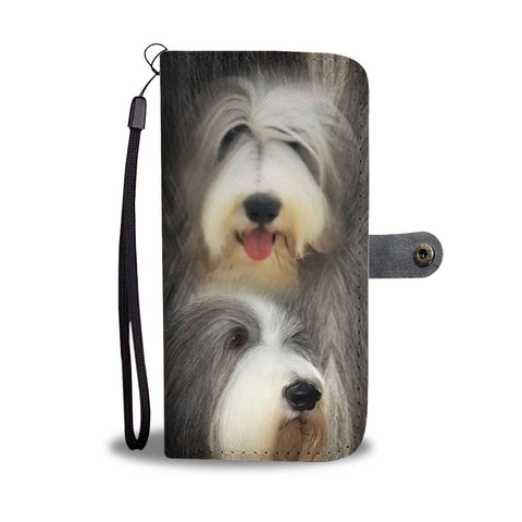 Bearded Collie Dog Print Wallet Case