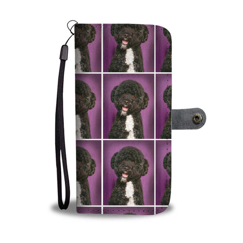 Spanish Water Dog Patterns Print Wallet Case