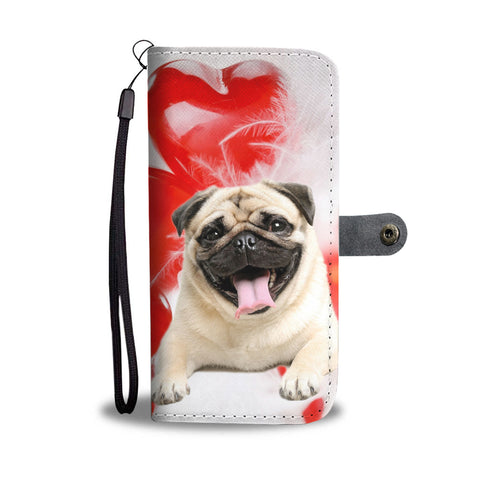 Laughing Pug Wallet Case