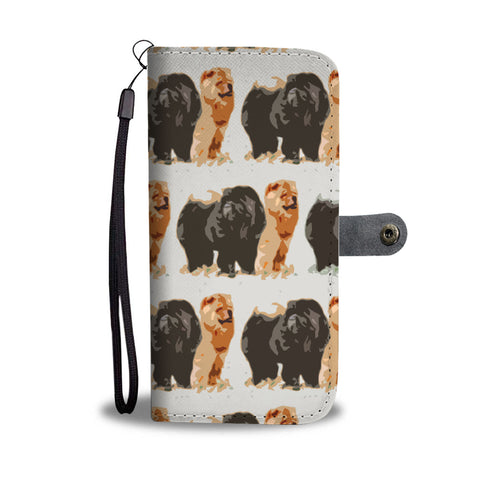 Chow Chow Dog Patterns Print Wallet Case
