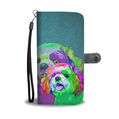 Shih Tzu Dog Art Print Wallet Case