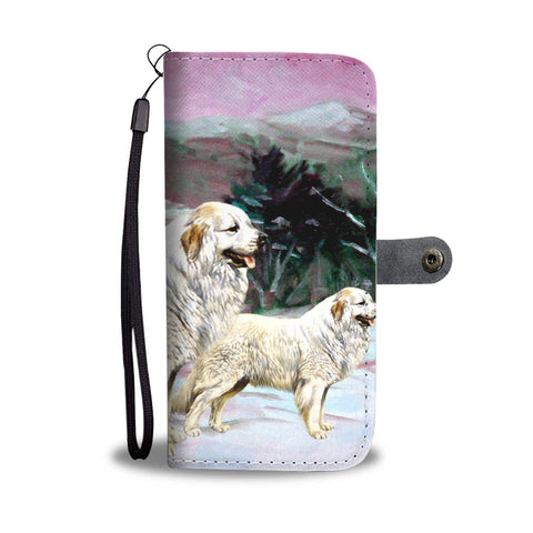 Great Pyrenees Dog Print Wallet Case