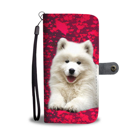 Samoyed Dog Print Wallet Case