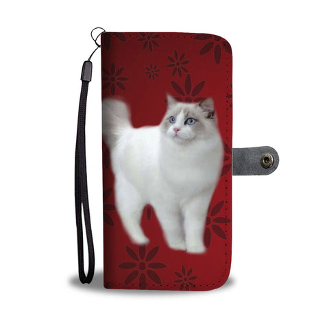 Ragdoll Cat Print Wallet Case