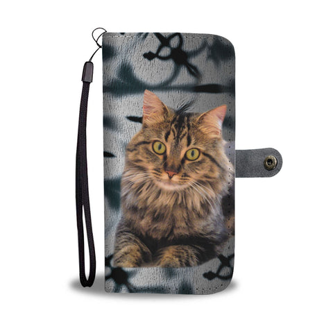 Maine Coon Cat Print Wallet Case