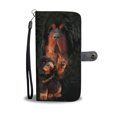 Tibetan Mastiff Dog Print Wallet Case