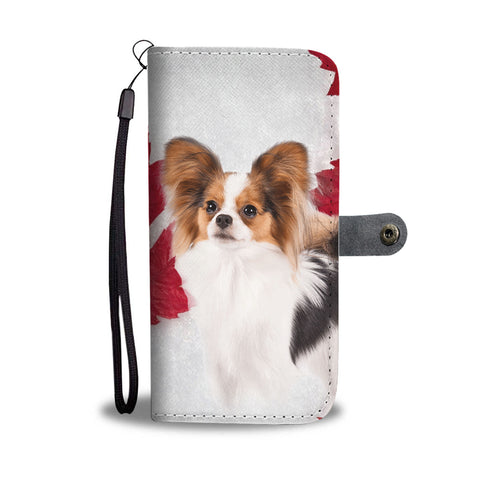 Papillon Dog On White Wallet Case