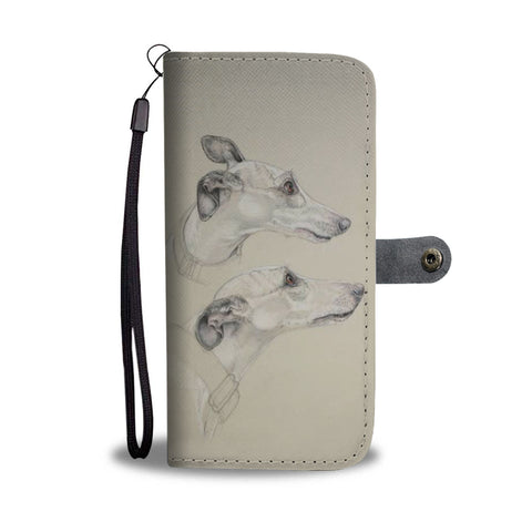 Amazing Whippet Dog Print Wallet Case