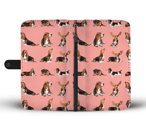 Basset Hound Dog 2nd Pattern Print Wallet Case