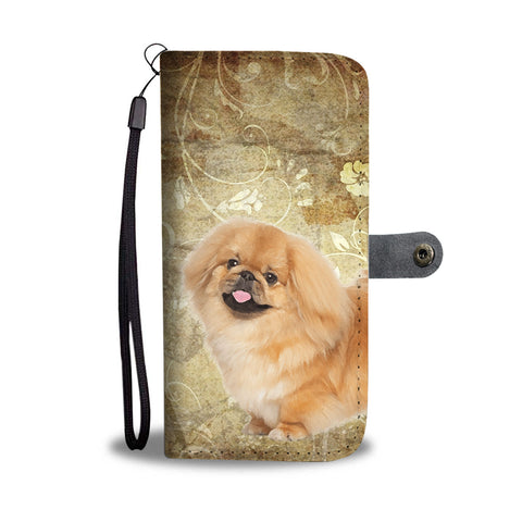 Pekingese Dog Print Wallet Case