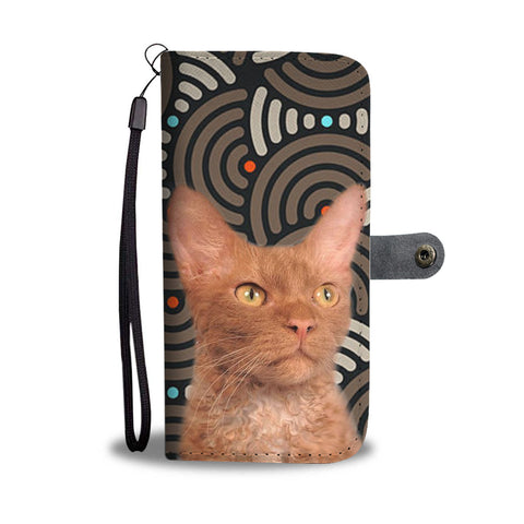 Cute LaPerm Cat Print Wallet Case