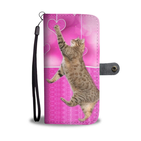Pixie bob Cat Catching Love Print Wallet Case