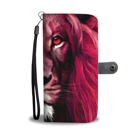 Reddish Lion Print Wallet Case