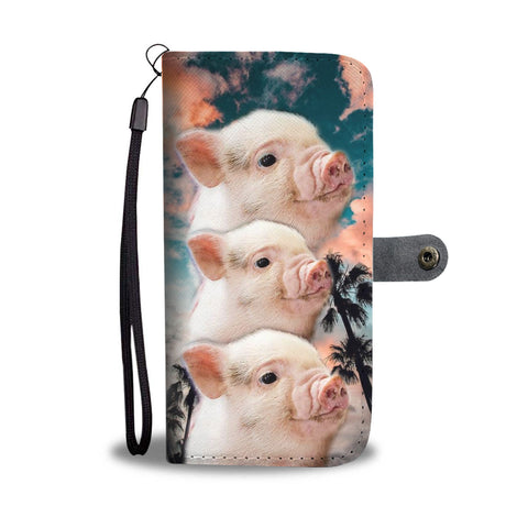 Miniature Pig Print Wallet Case