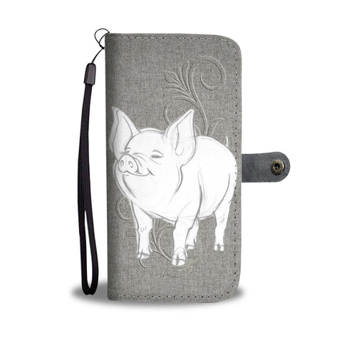 Middle White Pig Print Wallet Case