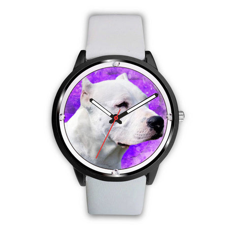 Dogo Argentino Dog Print Wrist Watch