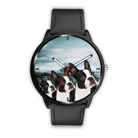 Amazing Boston Terrier Dog Print Wrist Watch