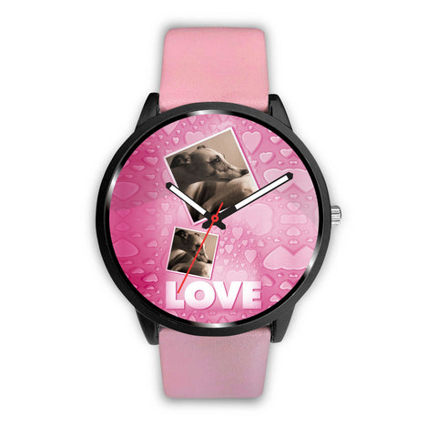 Whippet Love Print Wrist Watch