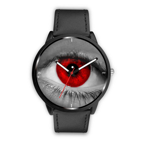 Red Eyes Print Wrist Watch