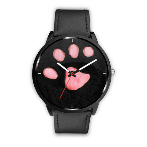 Pink Paw Print Wrist Watch