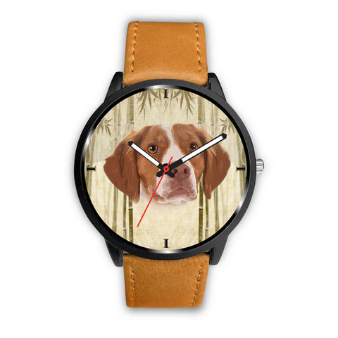 Brittany Dog Print Wrist Watch
