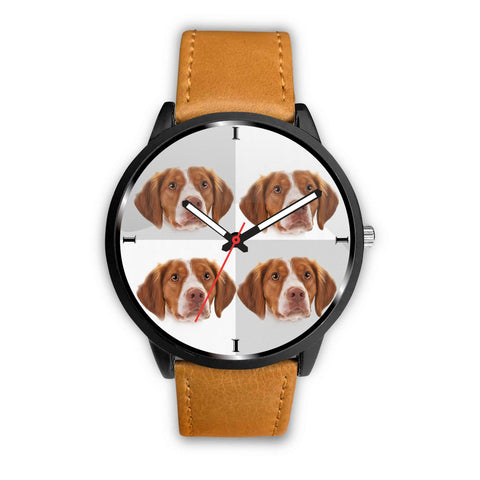 Cute Brittany Dog Print Wrist Watch