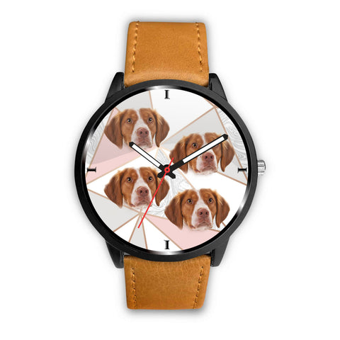 Lovely Brittany Dog Print Wrist Watch