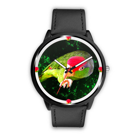 Amazon Red Headed Parrot Print Wrist Watch