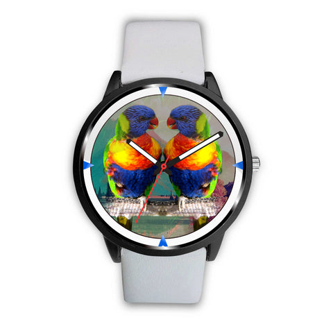 Lories and Lorikeets Parrot Print Wrist Watch