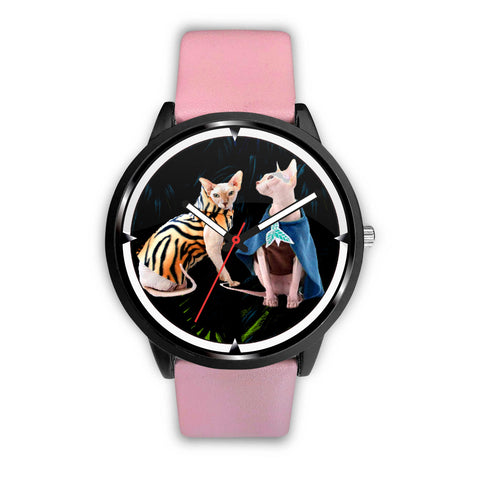 Lovely Sphynx Cat Print Wrist Watch