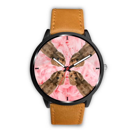 Cocker Spaniel On Pink Print Wrist Watch