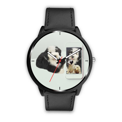 Old English Sheepdog Print Wrist Watch