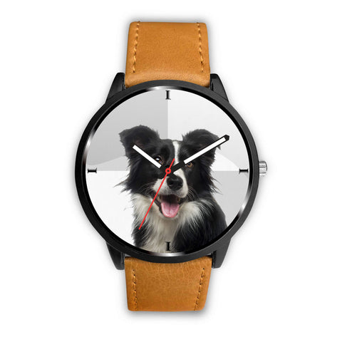 Cute Border Collie Dog Print Wrist Watch