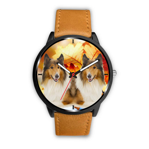 Rough Collie Print Wrist Watch