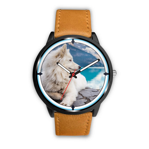 Samoyed Dog Nature Print Wrist Watch