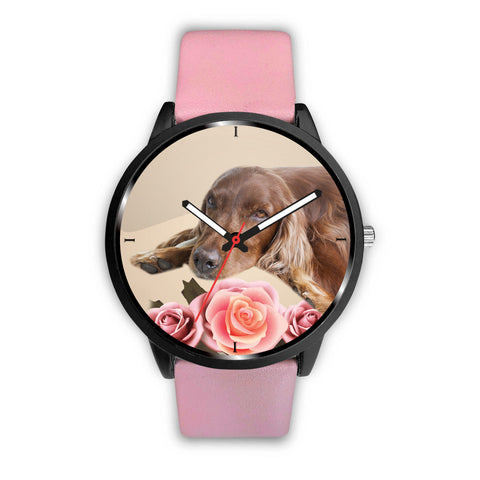 Cute Irish Setter Dog Print Wrist Watch