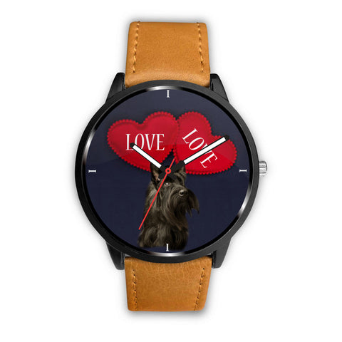 Cute Scottish Terrier Print Wrist Watch