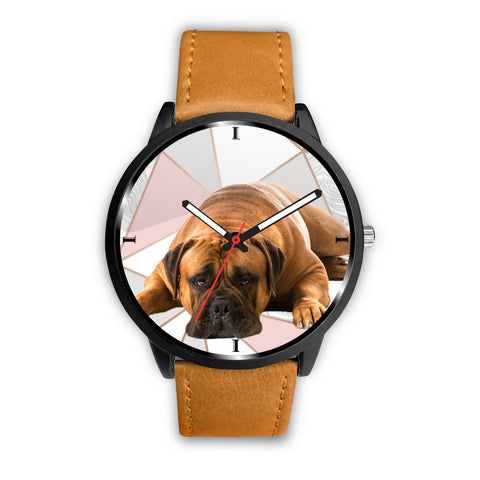 Bullmastiff Dog Print Wrist Watch