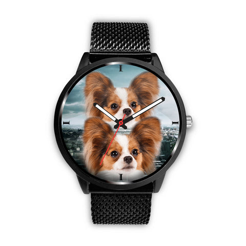 Cute Papillon Dog Print Wrist Watch