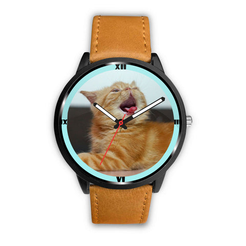 Lovely Exotic Shorthair Cat Print Wrist Watch