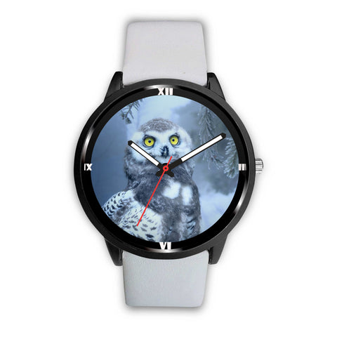 Snow Owl Print Wrist Watch