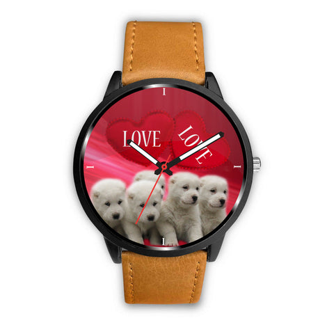 Central Asian Shepherd Puppies Print Wrist Watch
