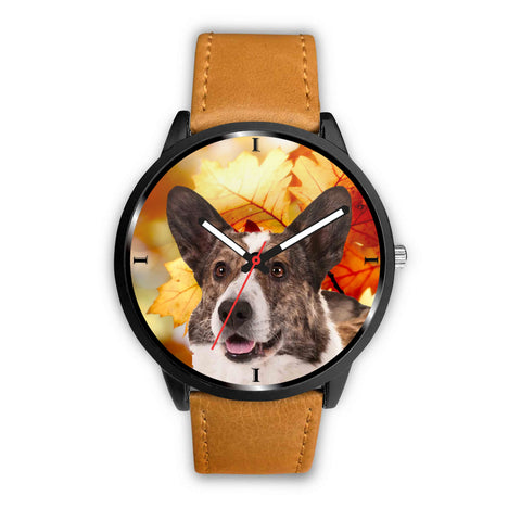 Cardigan Welsh Corgi Print Wrist Watch