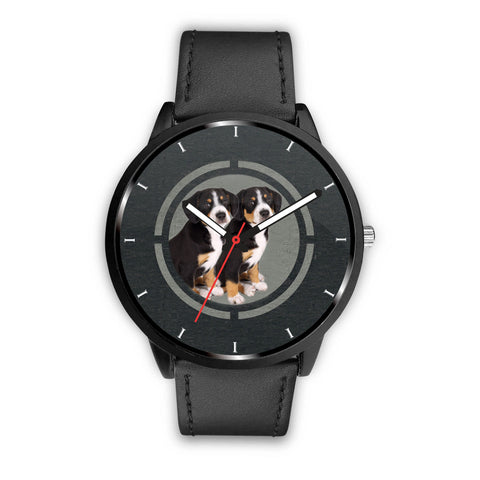 Greater Swiss Mountain Puppies Print Wrist Watch