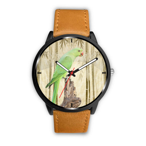 RoseRinged Parakeet Print Wrist Watch