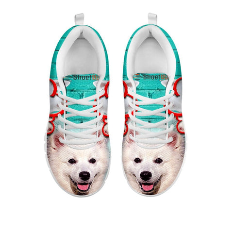 American Eskimo With Rose Print Running Shoe For Women For 24 Hours Only